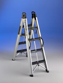 Hispano industrias svelt s l productos construnario for Escalera aluminio plegable