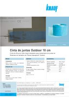 Ebook Cinta de juntas Outdoor 10 cm - Enero 2014