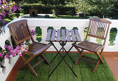 Nuevas losetas de c sped artificial con soporte de madera - Losetas para jardin ...