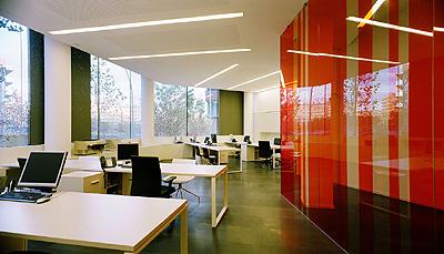 lamp ilumina las oficinas centrales de la mutua manresana