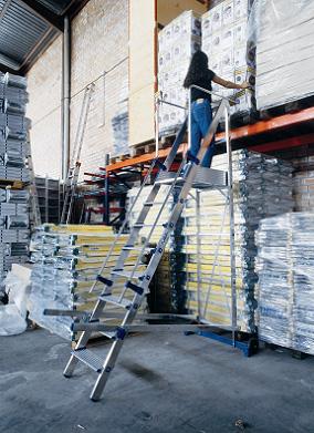 Forteza la escalera m vil para almacenes de pabell - Escaleras para almacenes ...