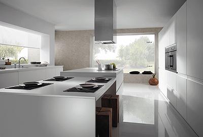 tiradores integrados en los muebles de cocina fagor
