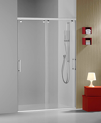 Velvet presenta el nuevo frontal de ducha mina 7 de dos for Puerta corrediza para ducha