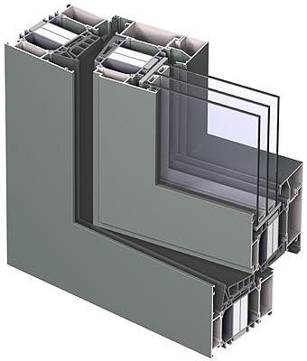 Perfil ventana aluminio