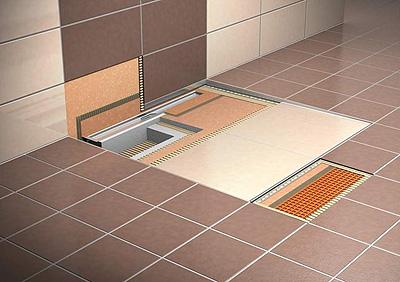 Schl ter systems lleva a construmat sus platos de ducha a for Platos de ducha a ras de suelo