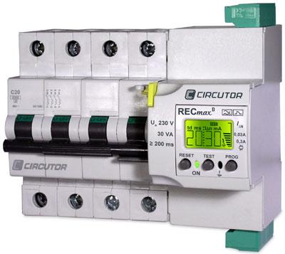 Recmax de circutor protecci n diferencial con reconexi n for Diferencial rearme automatico