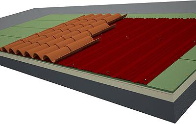 Onduline crea el nuevo panel ondutherm basic for Tejado madera onduline