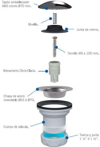 Jimten presenta el nuevo tap n con sistema click clack universal - Valvulas para lavabos ...