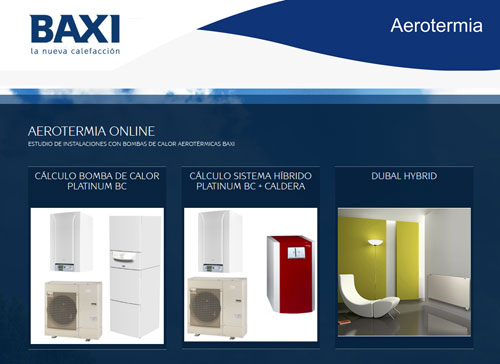 Baxi roca presenta la nueva aplicaci n aerotermia online for Bomba de calefaccion roca