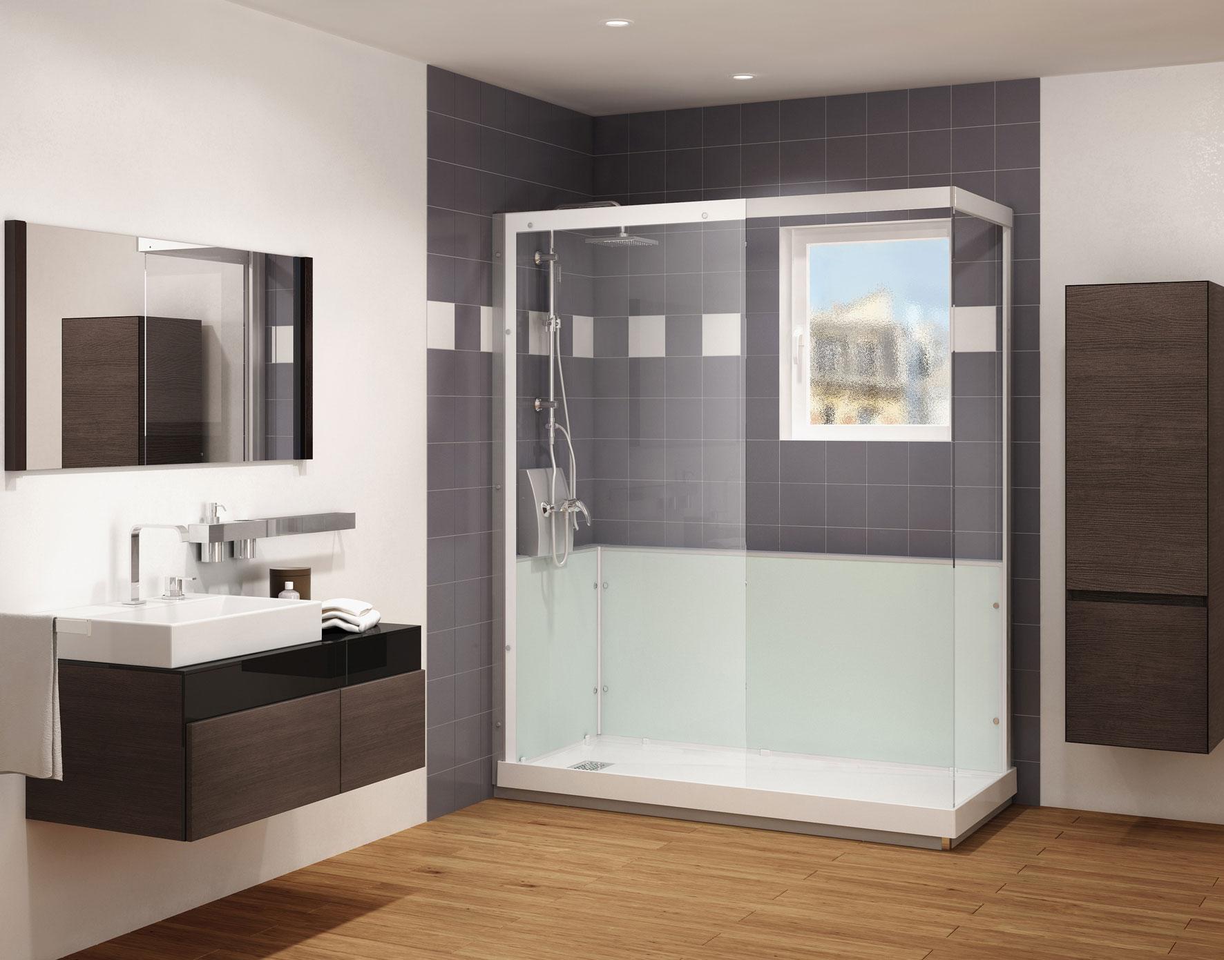 Grandform presenta easy ducha la soluci n m s r pida del - Banos con banera y plato de ducha ...