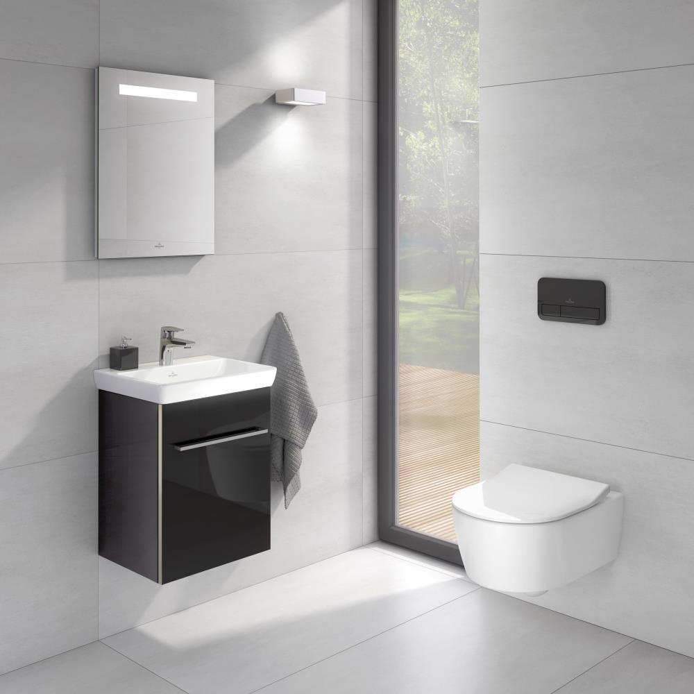 Peque os ba os llenos de estilo villeroy boch for Lavabos modernos para banos pequenos