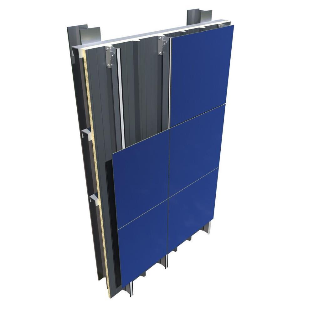 Ark wall la fachada ventilada ligera con panel sandwich for Paneles aislantes para fachadas