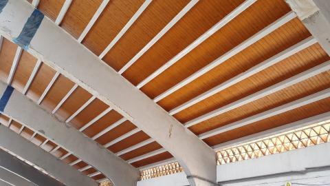 Sistema integral onduline en la rehabilitaci n de cubierta for Tejado madera onduline