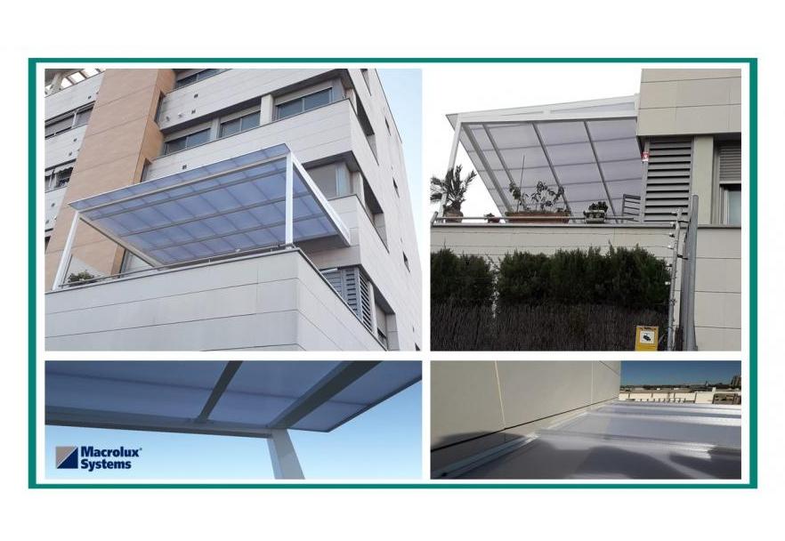 Stabilit Realiza Pérgola Con Macrolux Bdl Para Un Edificio
