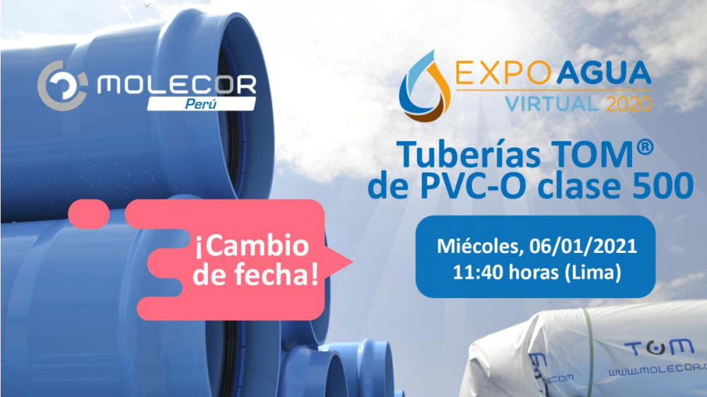 Aplazada la conferencia de Molecor Perú en Expo Agua Virtual